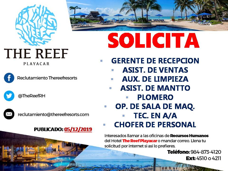 05dic2019 - THE REEF PLAYACAR.JPG